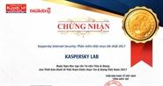 Kaspersky Internet Security được bình chọn là Phần mềm diệt virus tốt nhất 2017