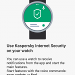Quản lí Kaspersky Internet Security for Android mới bằng Smartwatch