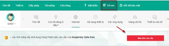 Cách thiết lập Kaspersky Safe Kids thông qua Kaspersky Total Security